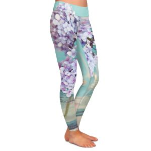 Casual Comfortable Leggings | Sylvia Cook Hydrangeas in Mason Jars