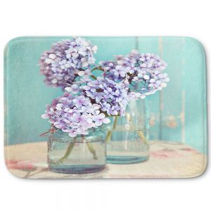 Decorative Bathroom Mats | Sylvia Cook - Hydrangeas in Mason Jars
