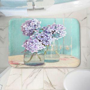 Decorative Bathroom Mats | Sylvia Cook - Hydrangeas in Mason Jars