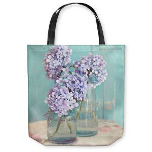 Unique Shoulder Bag Tote Bags | Sylvia Cook Hydrangeas in Mason Jars