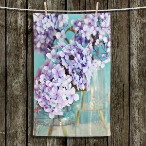 Unique Hanging Tea Towels | Sylvia Cook - Hydrangeas in Mason Jars | Flowers Mason Jars