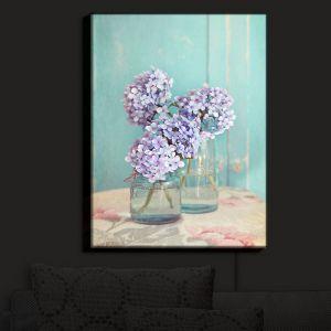 Nightlight Sconce Canvas Light | Sylvia Cook's Hydrangeas in Mason Jars