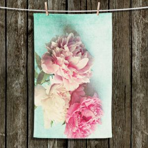 Unique Hanging Tea Towels | Sylvia Cook - Like Yesterday | Carnations Flowers