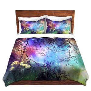 Artistic Duvet Covers and Shams Bedding | Sylvia Cook - Look to the Stars