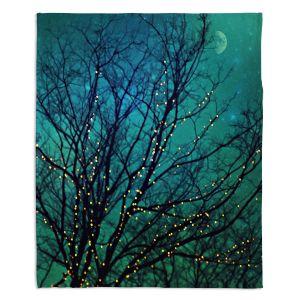 Decorative Fleece Throw Blankets | Sylvia Cook - Magical Night