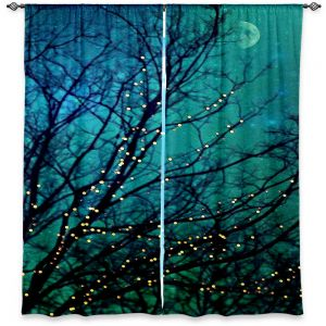 Unique Window Curtain Unlined 40w x 61h from DiaNoche Designs by Sylvia Cook - Magical Night