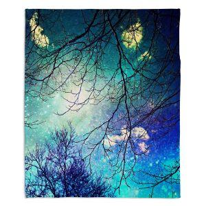 Decorative Fleece Throw Blankets | Sylvia Cook - Night Sky