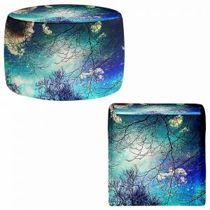 Round and Square Ottoman Foot Stools | Sylvia Cook - Night Sky