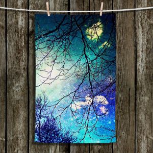 Unique Hanging Tea Towels | Sylvia Cook - Night Sky | Trees