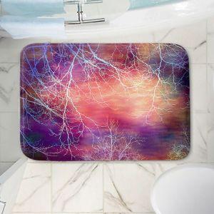 Decorative Bathroom Mats | Sylvia Cook - Night Time Trees l