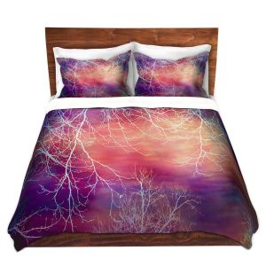 Artistic Duvet Covers and Shams Bedding | Sylvia Cook - Night Time Trees l