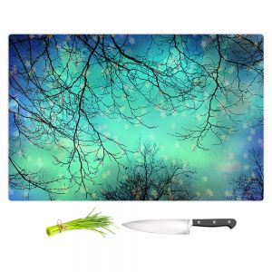 Artistic Kitchen Bar Cutting Boards | Sylvia Cook - Night Time Trees ll