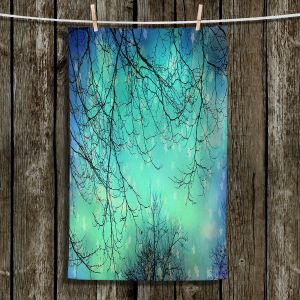 Unique Hanging Tea Towels   Sylvia Cook - Night Time Trees ll   Nighttime Trees Branches