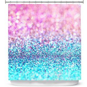 Premium Shower Curtains | Sylvia Cook Pastel Glitter
