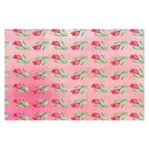 Decorative Floor Coverings | Sylvia Cook - Pink Tulips | Floral Pattern Spring