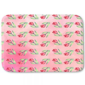 Decorative Bathroom Mats | Sylvia Cook - Pink Tulips | Floral Pattern Spring