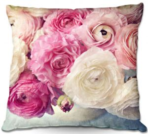 Throw Pillows Decorative Artistic | Sylvia Cook - Shades of Pink