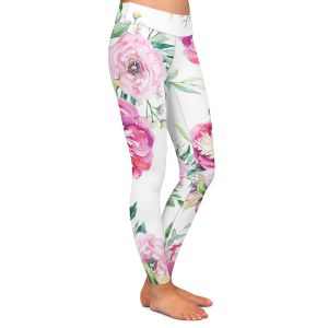 Casual Comfortable Leggings | Sylvia Cook - Spring Flowers 2