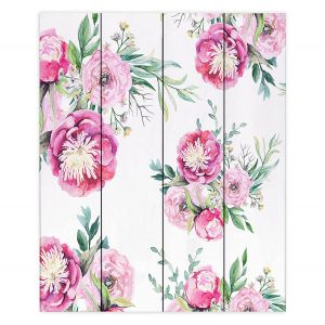 Decorative Wood Plank Wall Art | Sylvia Cook - Spring Flowers 2 | floral flower pattern