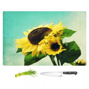 Artistic Kitchen Bar Cutting Boards | Sylvia Cook - Sunflowers