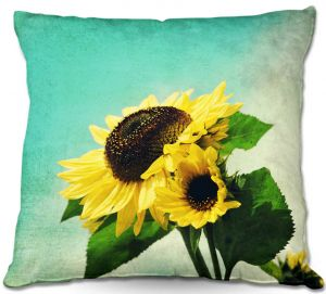 Throw Pillows Decorative Artistic | Sylvia Cook Sunflowers