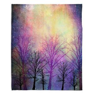 Decorative Fleece Throw Blankets | Sylvia Cook - Trees