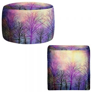 Round and Square Ottoman Foot Stools | Sylvia Cook - Trees
