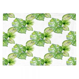 Countertop Place Mats | Sylvia Cook - Tropical Leaves | Leaves Leaf Vines