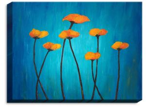 Decorative Canvas Unframed 36x24 from DiaNoche Designs by Tara Viswanathan - Eternal Poppies