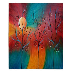 Decorative Fleece Throw Blankets | Tara Viswanathan - Peacock Inspiration II