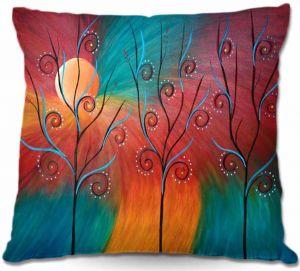 Decorative Outdoor Patio Pillow Cushion | Tara Viswanathan - Peacock Inspiration II