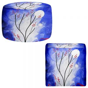 Round and Square Ottoman Foot Stools | Tara Viswanathan - Touch the Moon