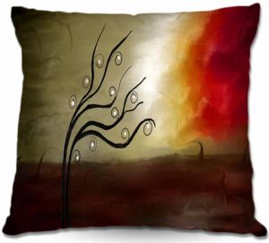 Decorative Outdoor Patio Pillow Cushion   Tara Viswanathan - Wild Desire I