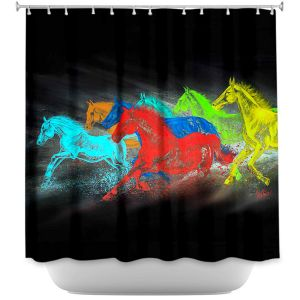 Unique Shower Curtain from DiaNoche Designs by Teshia - Born to Be Wild I