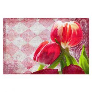 Decorative Floor Coverings | Tina Lavoie - Harlequin | Tulips Flowers Patterns Florals Vintage