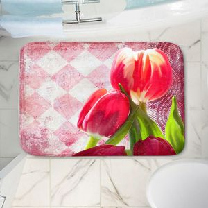 Decorative Bathroom Mats | Tina Lavoie - Harlequin | Tulips Flowers Patterns Florals Vintage