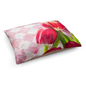 Decorative Dog Pet Beds | Tina Lavoie - Harlequin | Tulips Flowers Patterns Florals Vintage