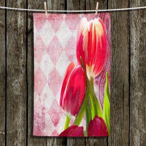 Unique Hanging Tea Towels | Tina Lavoie - Harlequin | Tulips Flowers Patterns Florals Vintage