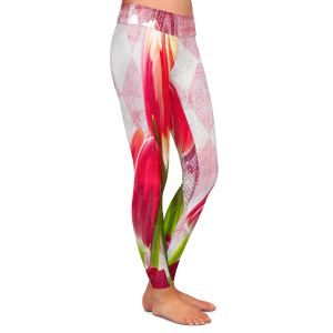 Casual Comfortable Leggings | Tina Lavoie - Harlequin | Tulips Flowers Patterns Florals Vintage