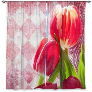 Decorative Window Treatments | Tina Lavoie - Harlequin | Tulips Flowers Patterns Florals Vintage