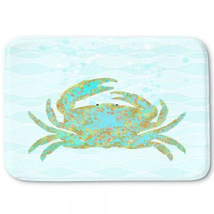 Decorative Bathroom Mats | Tina Lavoie - Kramer Crab | Ocean Nature Sealife