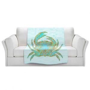 Artistic Sherpa Pile Blankets   Tina Lavoie - Kramer Crab   Ocean Nature Sealife