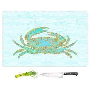 Artistic Kitchen Bar Cutting Boards   Tina Lavoie - Kramer Crab   Ocean Nature Sealife