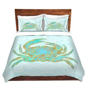 Artistic Duvet Covers and Shams Bedding | Tina Lavoie - Kramer Crab | Ocean Nature Sealife