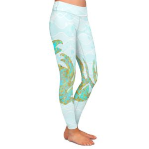 Casual Comfortable Leggings | Tina Lavoie - Kramer Crab | Ocean Nature Sealife