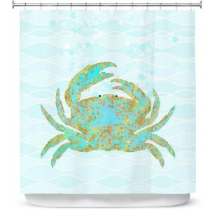 Premium Shower Curtains | Tina Lavoie - Kramer Crab | Ocean Nature Sealife