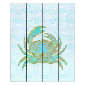 Decorative Wood Plank Wall Art   Tina Lavoie - Kramer Crab   Ocean Nature Sealife