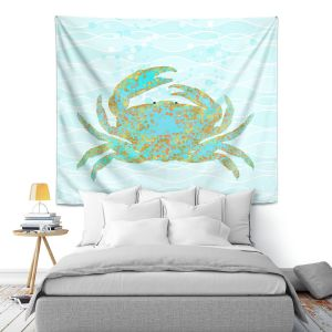 Artistic Wall Tapestry | Tina Lavoie - Kramer Crab | Ocean Nature Sealife