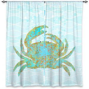 Decorative Window Treatments | Tina Lavoie - Kramer Crab | Ocean Nature Sealife