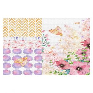 Decorative Floor Coverings | Tina Lavoie - Lazy Summer 1 | Flower Pattern Insect Nature